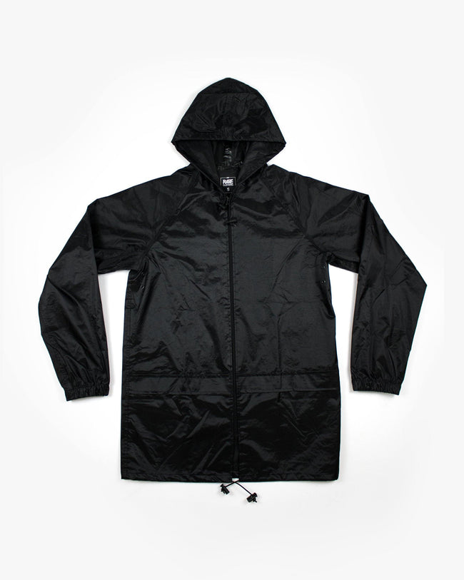 Rave rain jacket for techno festivals