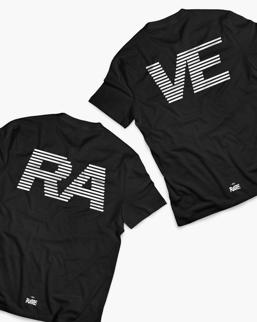 RAVE Couple T-Shirts in schwarz von RAVE Clothing
