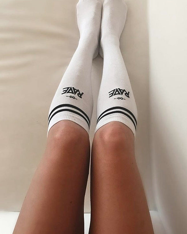RAVE socks in white for women by RAVE Clothing