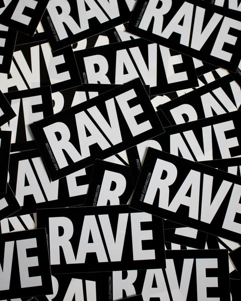 Rave Stickers from RAVE Clothing
