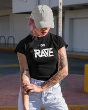 RAVE Ladies T-Shirt in schwarz