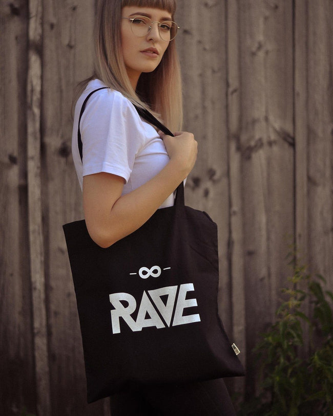 RAVE jute bag in black by RAVE Clothing