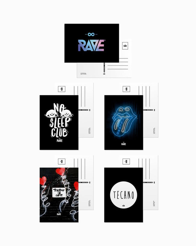 Rave & Techno Postcard Set