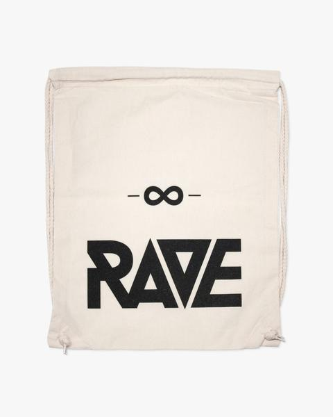 Natural colored RAVE gym bag by RAVE Clothing for techno festivals or raves
