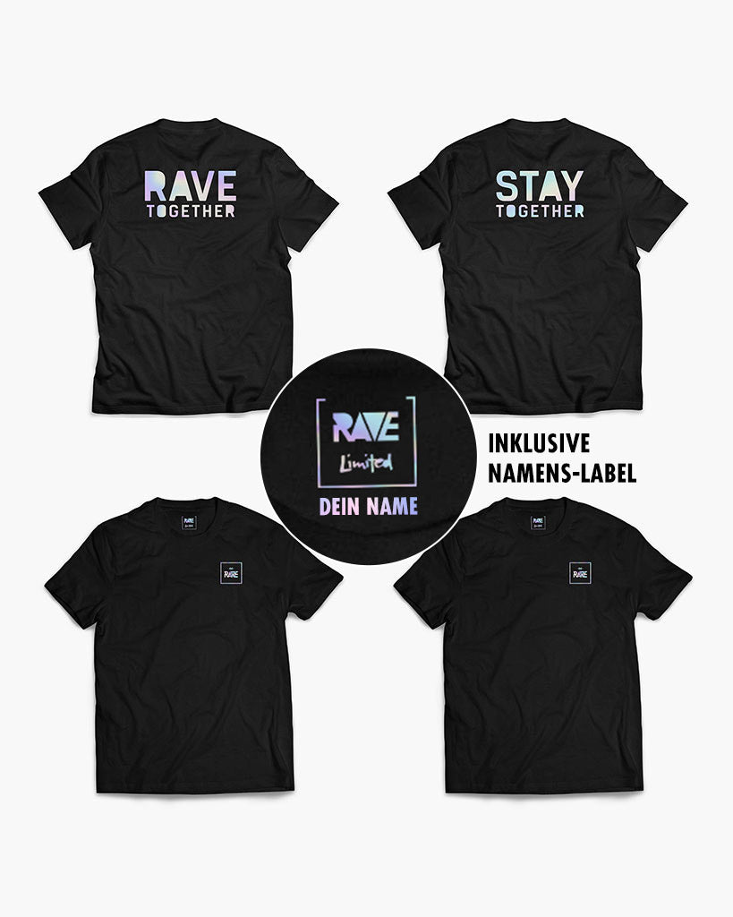 Rave Together Stay Together Holo T-Shirts