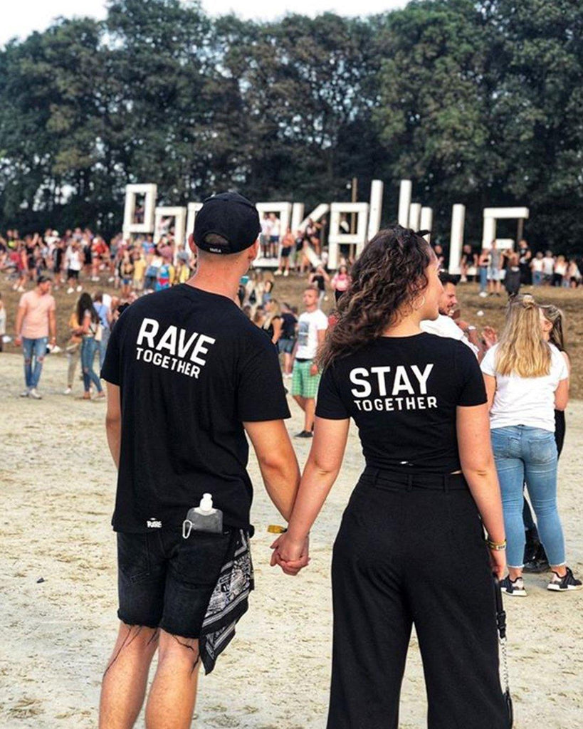 Rave Together Stay Together T-Shirt / Crop Top Set