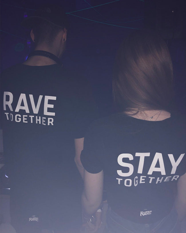 Rave Together Stay Together Couple T-Shirt & Crop Top von RAVE Clothing