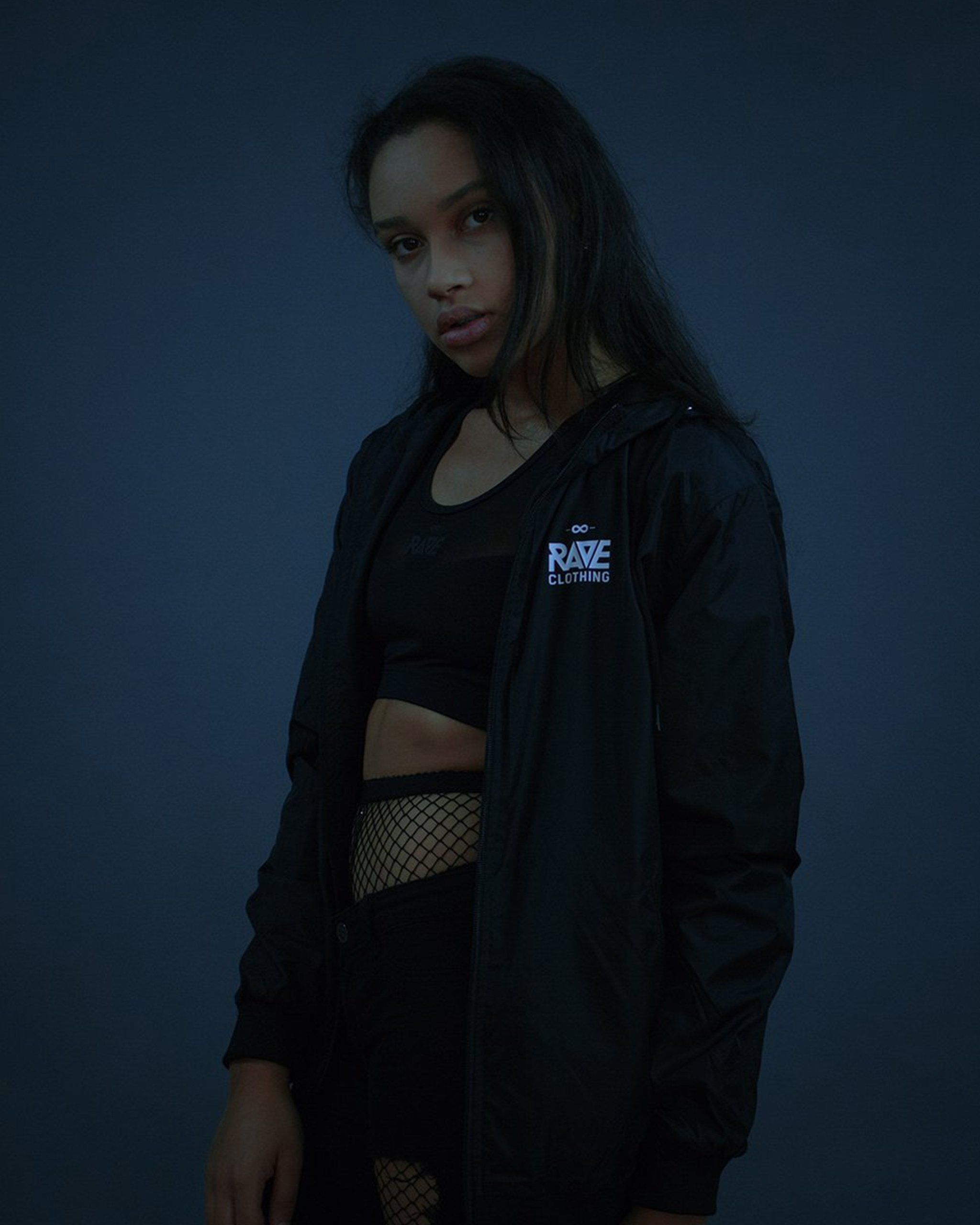 RAVE windbreaker in black for women by RAVE Clothing