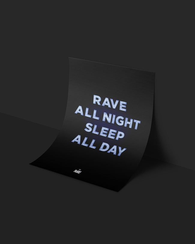 Techno poster by RAVE Clothing