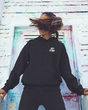 Stay Techno Hoodie in schwarz Frauen