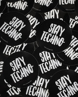 Stay Techno Sticker by RAVE Clothing