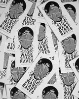 Stop Wars Start Raves Sticker by RAVE Clothing.