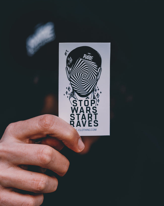 Stop Wars Start Raves Stickers