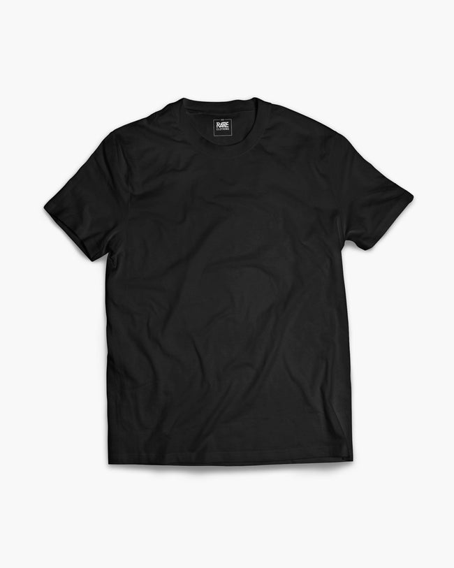 Black techno crew t-shirt for men