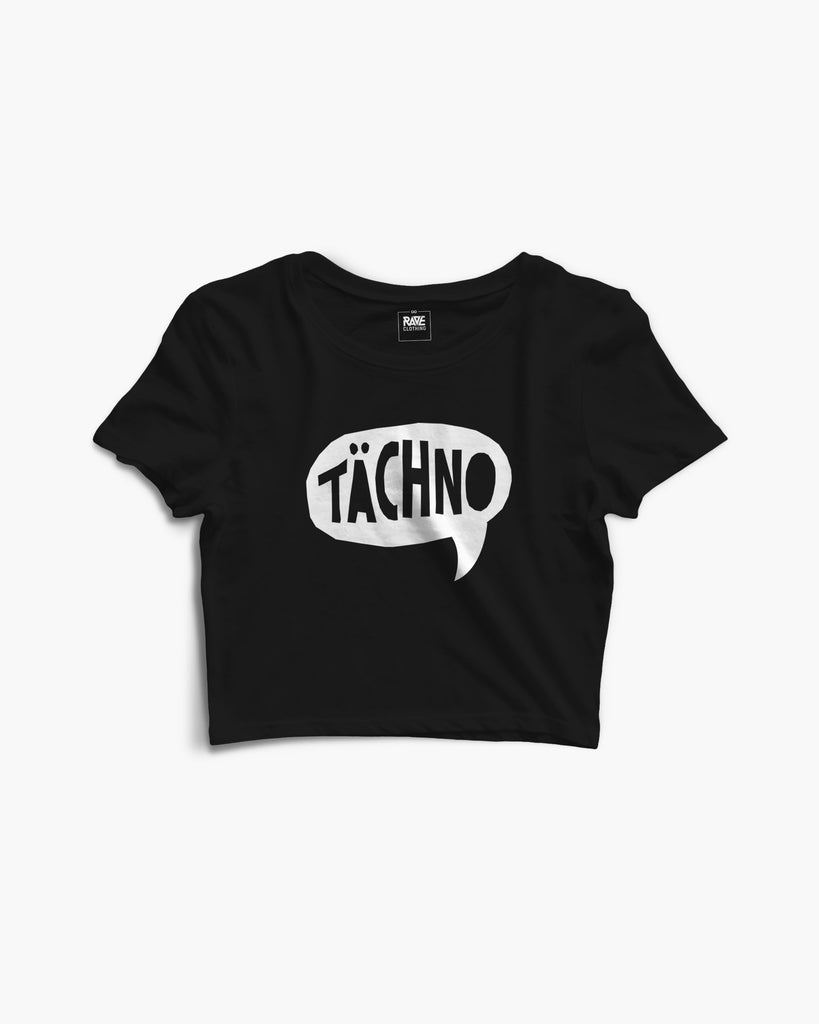 Tächno Crop Top in schwarz von RAVE Clothing