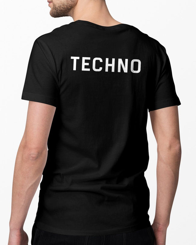 Techno Crew T-Shirt in black