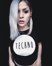 Techno top t-shirt in black for women