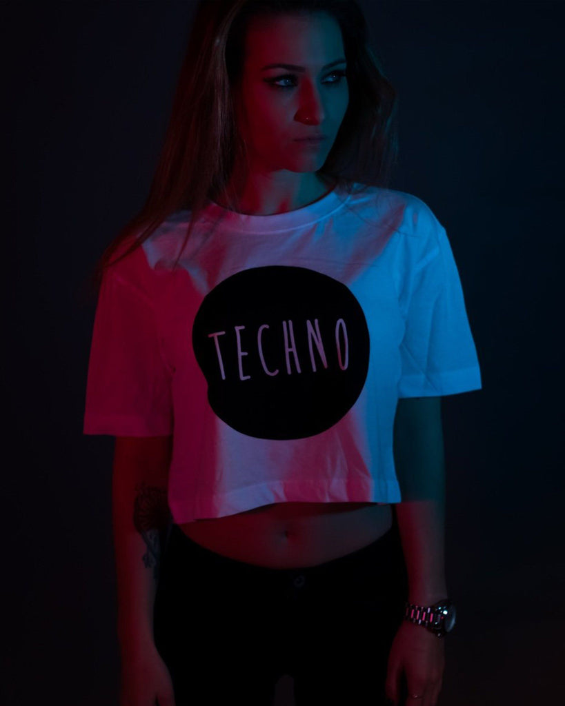 Techno Crop Top von RAVE Clothing