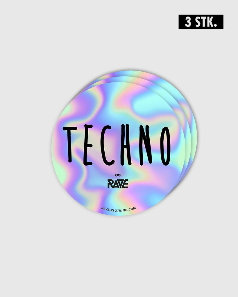 Techno Holo Sticker 3 Stk.