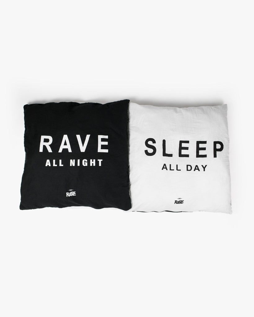 Rave All Night/Sleep All Day Kissenbezug-Set von RAVE Clothing