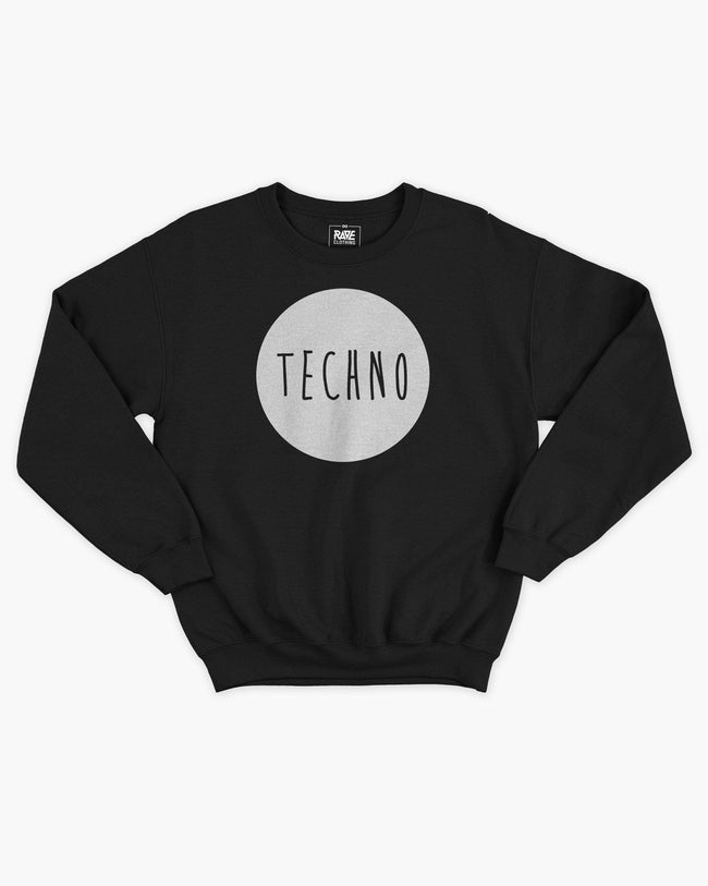 Techno crewneck in black for women by RAVE Clothing