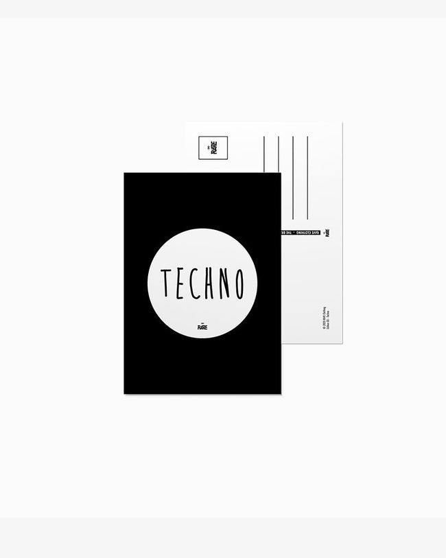 Techno postcard