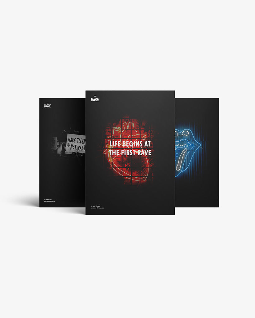 Techno, Rave, No Sleep CLub Fanbox Fanbox Set