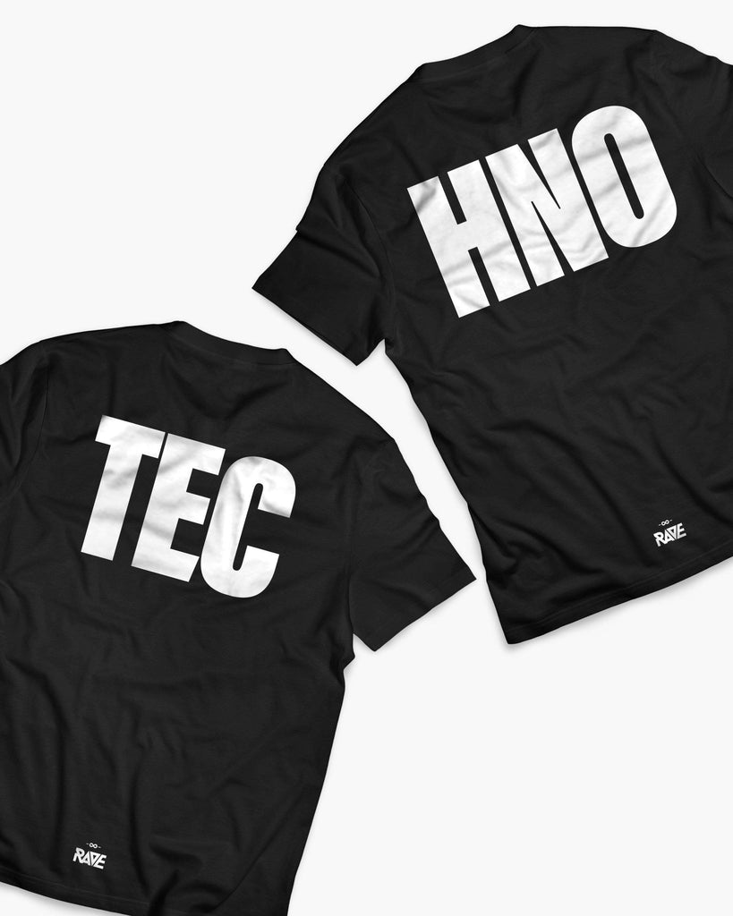 Techno Couple T-Shirts in schwarz von RAVE Clothing