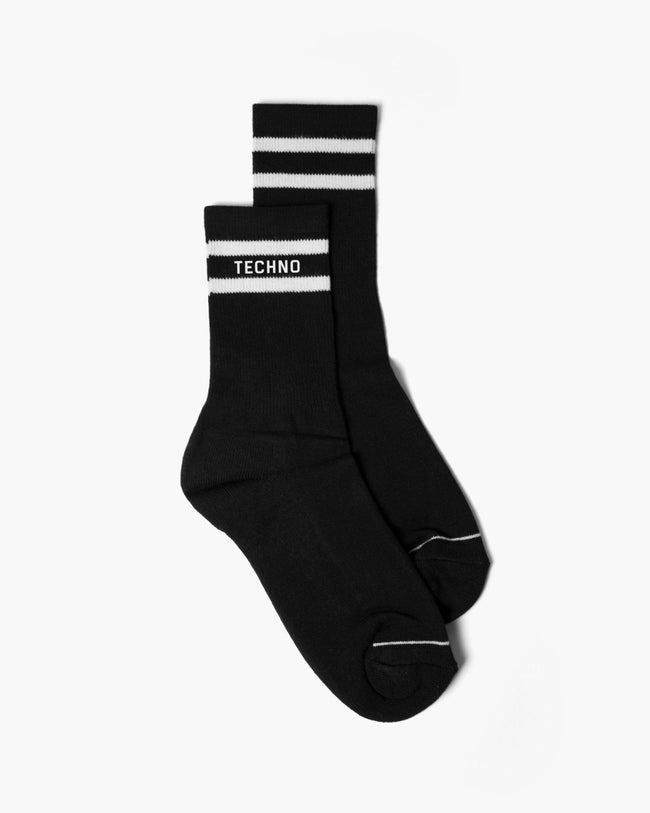 Black techno socks for men by RAVE Clothing