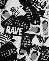 Techno Sticker Set 50 Stk.