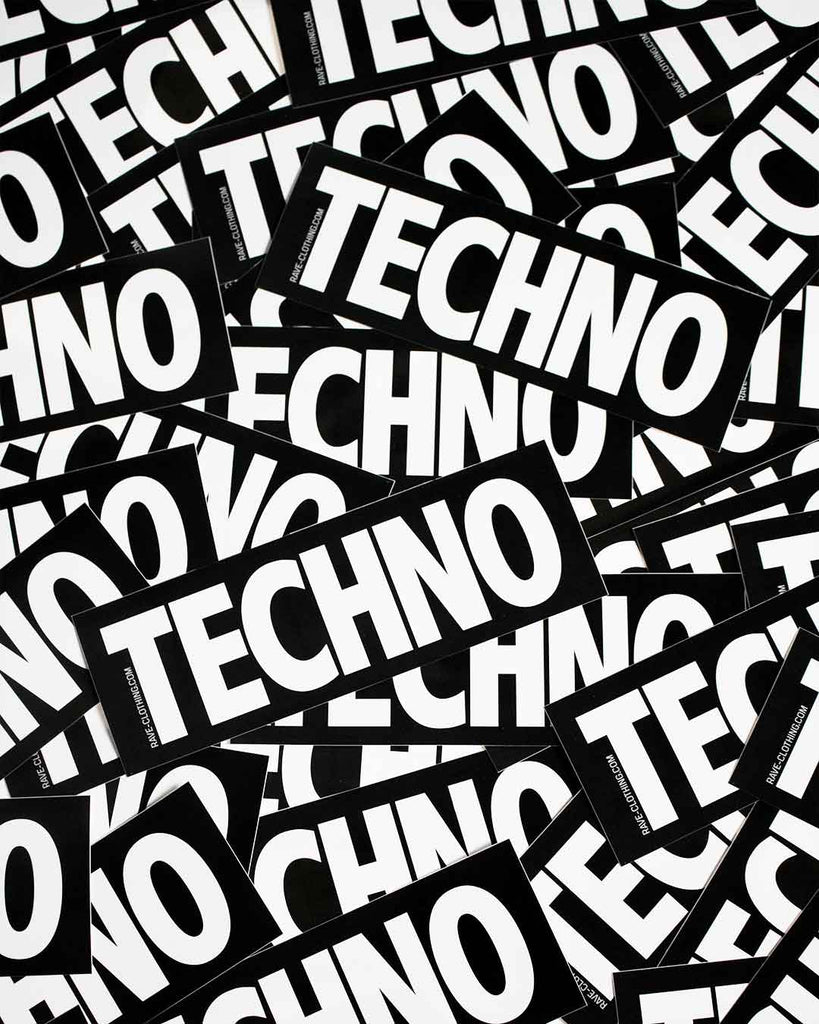 Original Techno Sticker von RAVE Clothing.