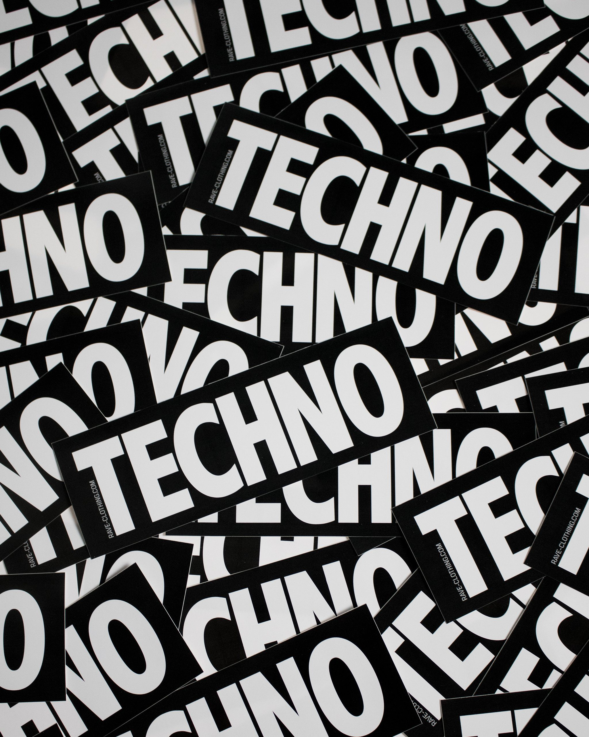 Techno sticker from RAVE Clothing
