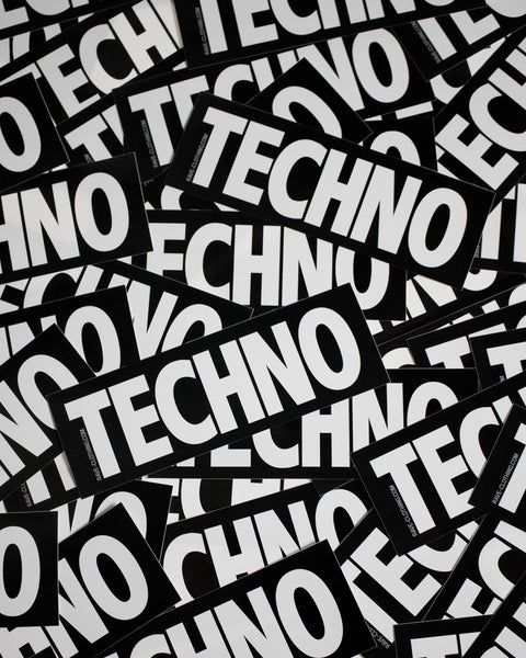 Techno Sticker von RAVE Clothing