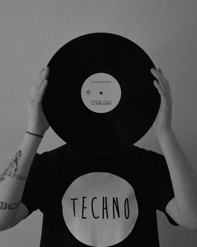 Techno T-shirt in black by RAVE Clothing