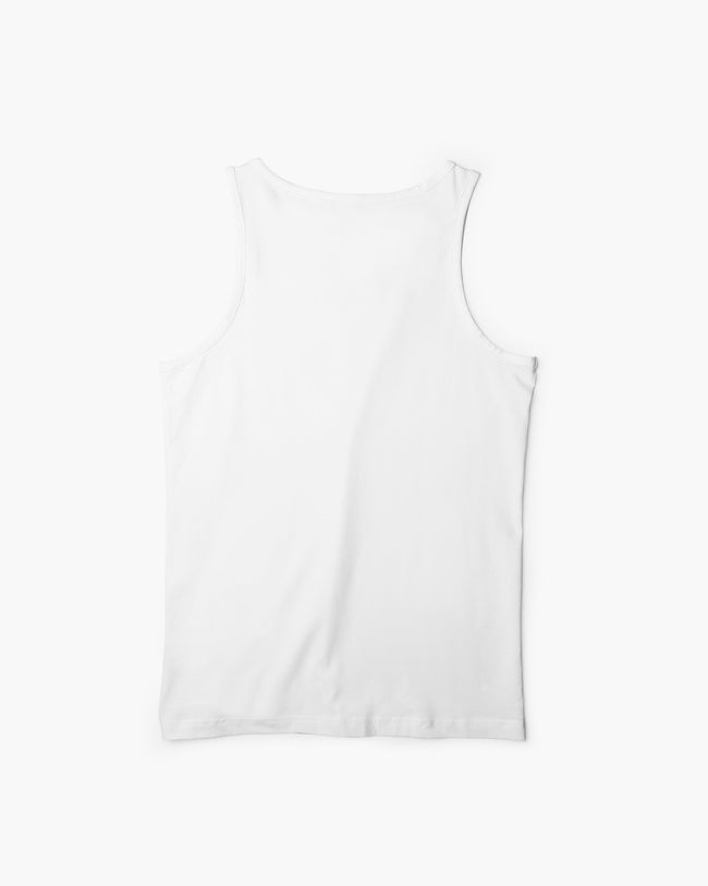White techno tank top for men