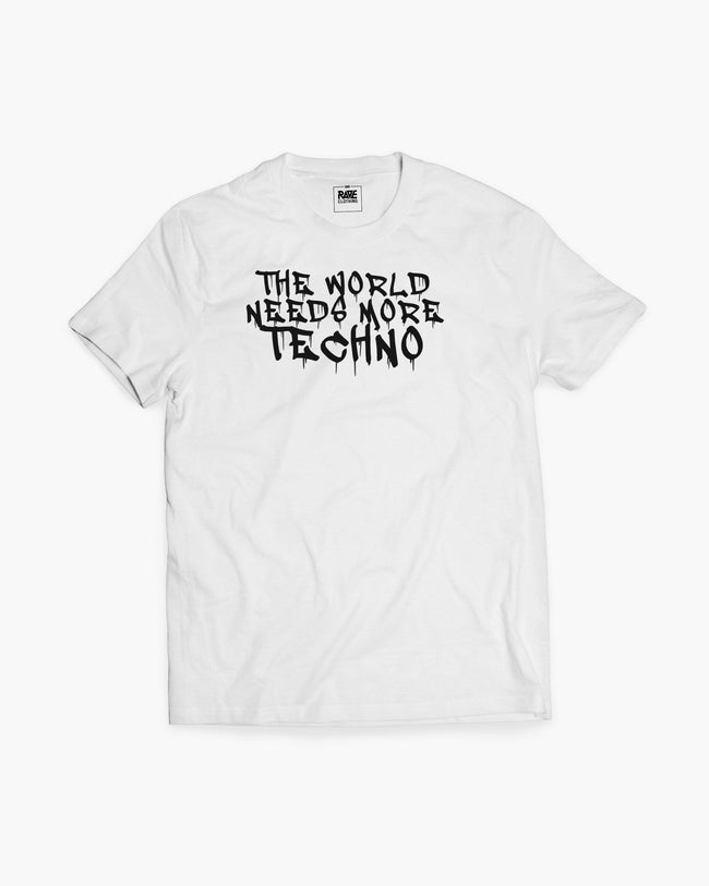 The world needs more Techno T-Shirt in white