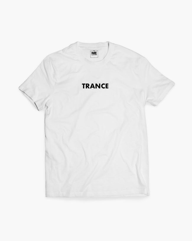 Trance t-shirt in white for men by RAVE Clothing