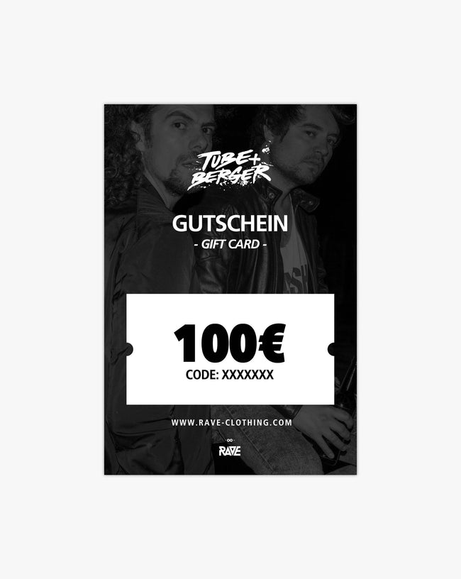 Tube & Berger € 100 voucher from RAVE Clothing