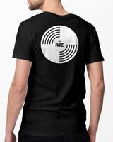 Black RAVE vinyl t-shirt for men by RAVE Clothing