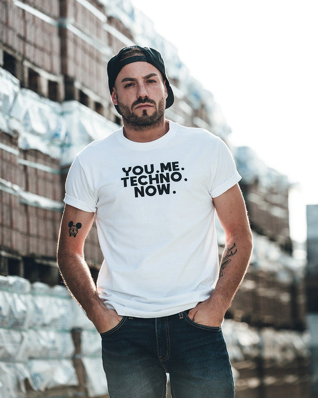 You Me Techno Now T-Shirt in white