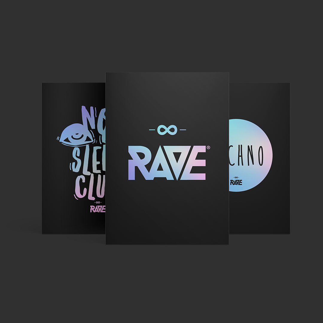 Techno and RAVE fan boxes on the front