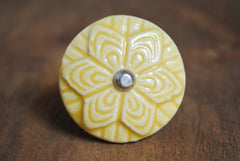 Yellow Round Ceramic Wheel Knob