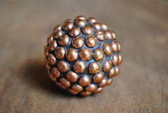 Round Copper Studded Knob