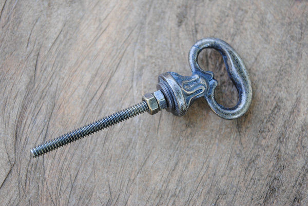 Antique Brass Key Knob