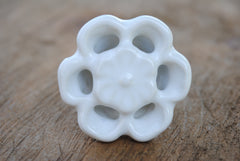 White Ceramic Open Flower