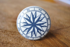 Ceramic Nautical Compass Knob