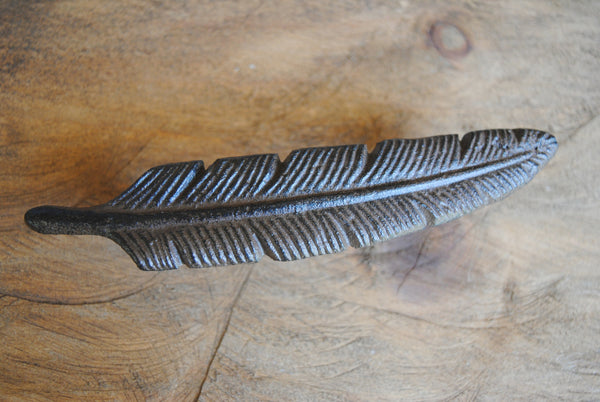 Cast Iron Feather Handle