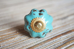 Distressed Teal Round