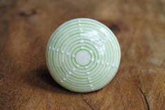 Ceramic Urchin Knob Green
