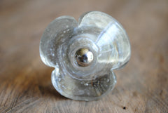 Glass Three Leaf Knob
